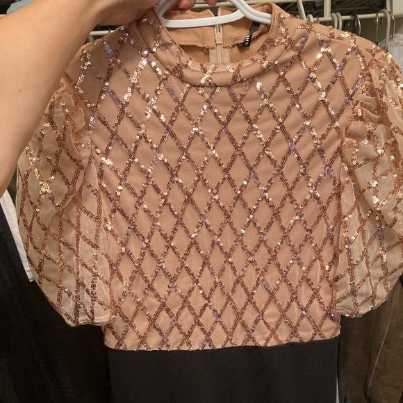 Cute sparkly cream Shein jumpsuit